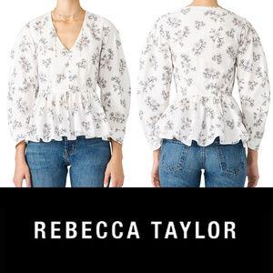Rebecca Taylor La Vie Camille Floral Top Small